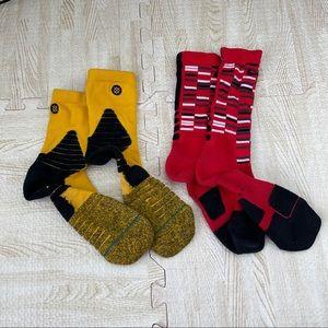 Stance NBA & Nike Dri Fit Atheltic Socks red black